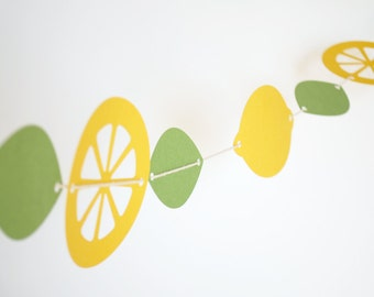 Fresh Lemons Paper Garland 5 ft.