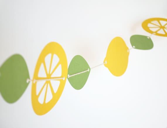 Fresh Lemons Paper Garland 5 ft.