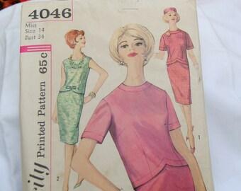 Rare Simplicity 4046 Pattern - Uncut - Mad Men Dress/S 14  - Vintage  - Fabulous!