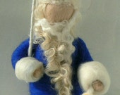 Needle Felted King Winter,  Blue & White, Waldorf Inspired by Cloudberrycrafts