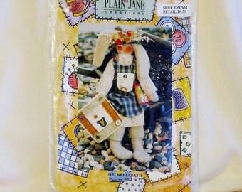 Rabbit Pattern, Plain Jane Creations 152 Crafts, Kellibeth Rabbit, 1990s Cut and Complete, 3-oz