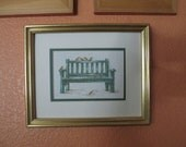 Marjolein Bastin's birds on a Bench cross stitch completed/Custom order for Debbie Rankin