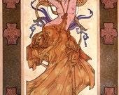 "Celtic Fantasy Art Print Aine 16x11"". Irish, Ireland, Goddess, Princess, Sexy, Erotic, Erotica, Nude, Love, Beautiful Woman."