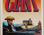 """R82 """"Giant"""" Original Rolled 27 x 41"""" Movie Poster JAMES DEAN Elizabeth Taylor Rock Hudson"""