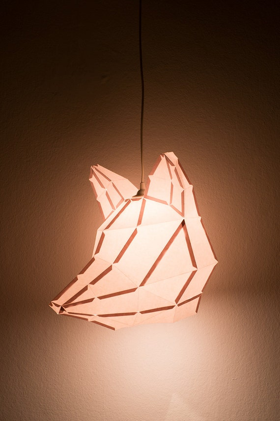 FOX LARGE / do it yourself paper lamp shade