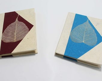 Handmade Lokta paper Notebook / Journal Eco Friendly Hard Cover Diary Unique