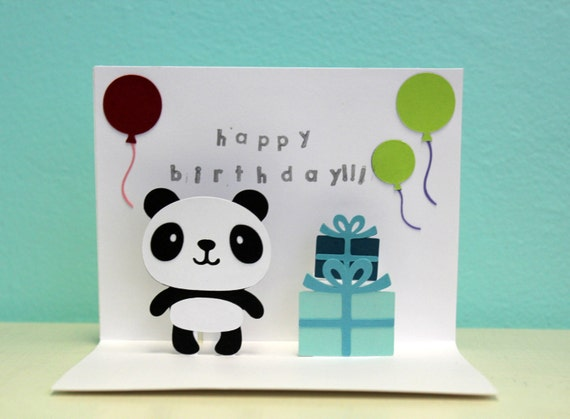 Happy Birthday Pops Card Pop up Card Panda Happy