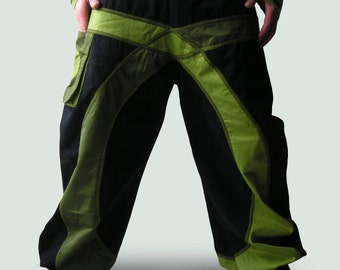 Baggy Aladdin Trousers - Afghani Harem Pants - Psy - Rave - Baggy Pants