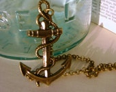Nautical Pirate pendant necklace // Anchors away