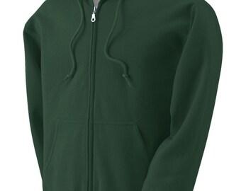 Custom Embroidered Zippered Hoodie Sweatshirt Adult