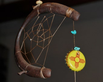 New Mexico Dreamcatcher with horseshoe frame