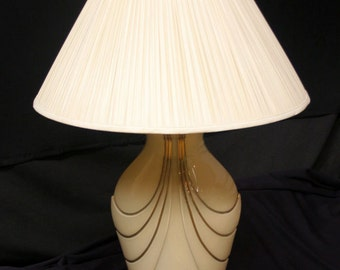 Vintage Ceramic Table Lamp w/ Shade