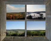 Rural Countryside Four Seasons 5X7 Photo Set, Art Collection, Farm Landscape, Maryland Landscape, Rustic Home Decor, Photo Gift Set
