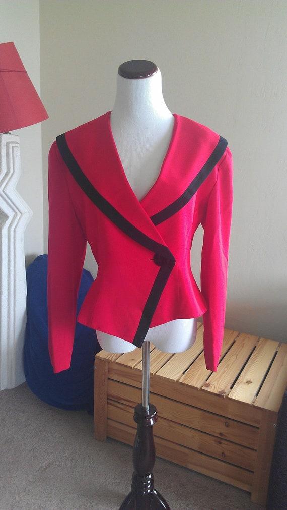 1980's Red Blazer by Bicci