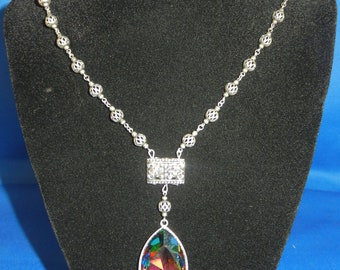 Antique Crystal Elegance Necklace & Earrings