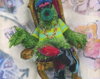 Philly Phanatic Art Print - Philly Art - Philadelphia Art - Phillies - Fresh Prince - Wall Art - Wall Decor - Mixed Media Art
