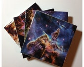The Space Coaster - Handmade Coasters by Behoove - Nebulas, Antennae, Galaxies, Stars, etc.