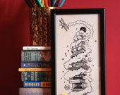 Children's Books at Blackwell's - Limited Edition Giclee Print by Kate Madigan