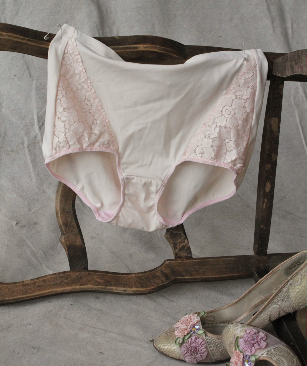 Vintage Blush Pink High Waist Girdle Panty By By MovieStarMoon
