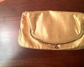 Sale: Vintage Mel Ton for Saks Fifth Avenue Gold Evening Bag