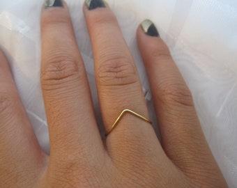 Single Chevron Brass Ring