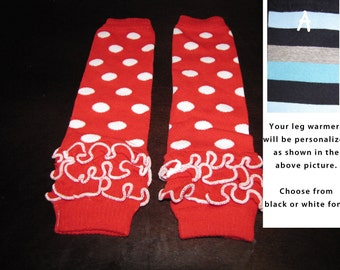 RED POLKA DOTS baby leg warmers.  Great for babies, toddlers, and young kids