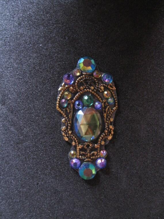 Royal Peacock Bindi - Purple, Green, Blue and Gold