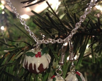 Oh, Bring us a Figgy Pudding Necklace & Earrings