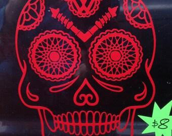 Sugar Skull Sticker- VW inspired sugar skull vinyl decal