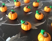 One Dozen 3D Fondant Pumpkins for Cakes and Cupcakes - SweetIdeaCreations