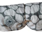 Minky Baby Blanket, Gray Stones with Beige Bubble dot minky