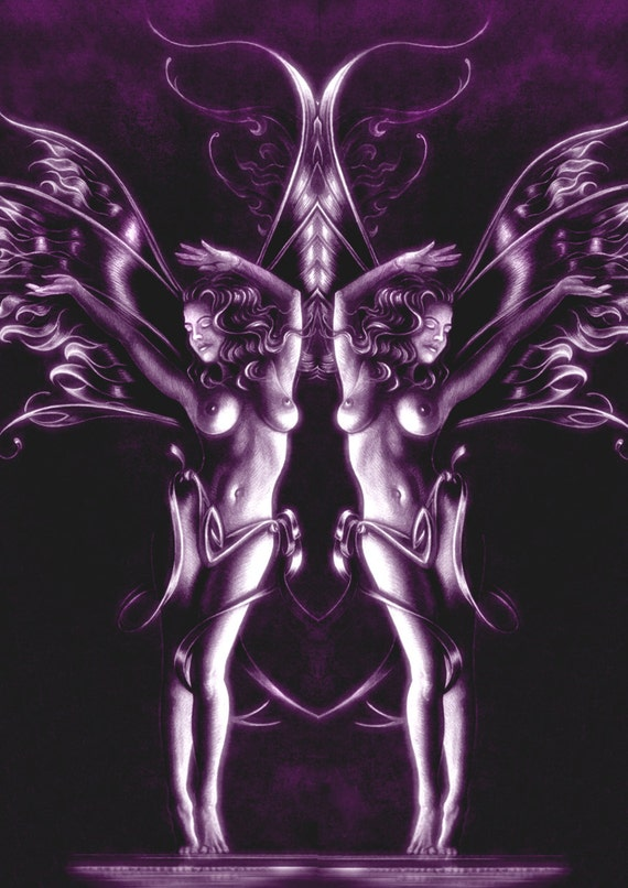 Purple fairy card Gemini