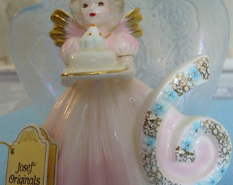 Vintage Josef Original Birthday Girl Angel Age 6 Years