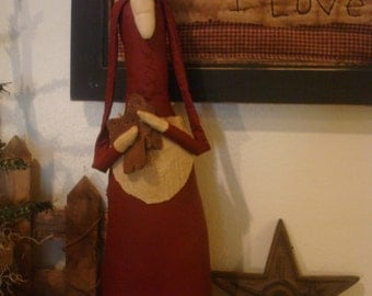 Primitive Handmade Mrs. Claus