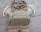 Little Old Angel Doll - Mixed Media - OOAK - Art Doll
