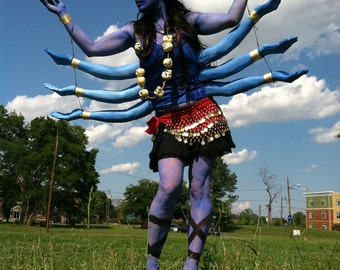 Kali Costume- 3pd.blue foam casted arms attached to tank top
