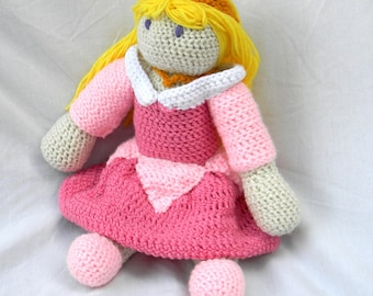 Sleeping Beauty Princess Aurora Crochet Doll