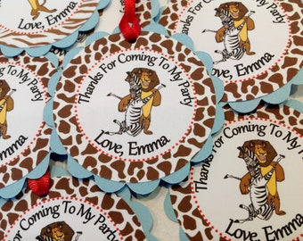 12- Happy Birthday Madagascar Favor Tags - Special Party Pack Available