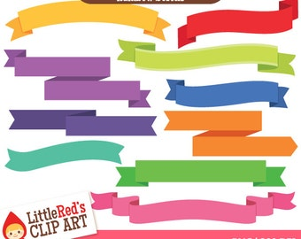 Rainbow Scrolls - 10 banner designs in 16 colors - for personal and commercial use