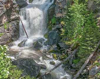 Crystal Falls Image, waterfall photo, Landscape image