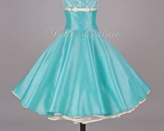 Custom Made & Handmade - 50s ball gown petticoat dress item: Denise