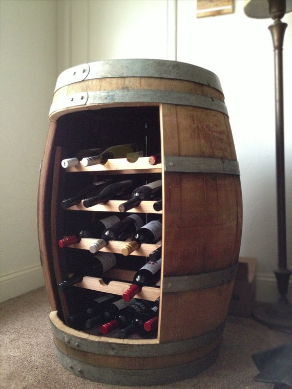 Items Similar To Reclaimed Oak Barrel Wine Rack On Etsy