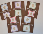 10 Pack Gingerbread Man Cards