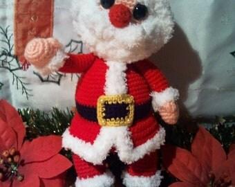 PDF crochet pattern Santa Claus