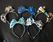 Superhero Comics Hairbow Headband Bow