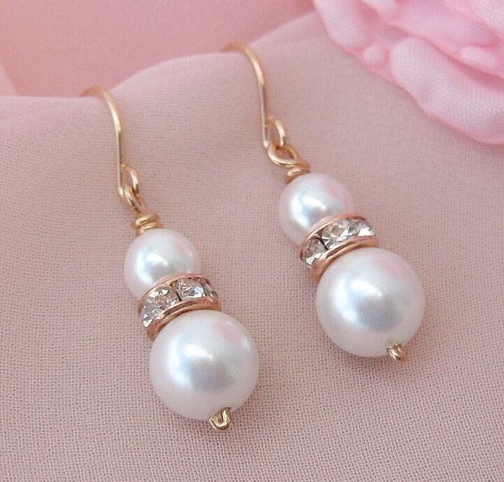 Rose Earrings Etsy Rose Gold Bridal Earrings