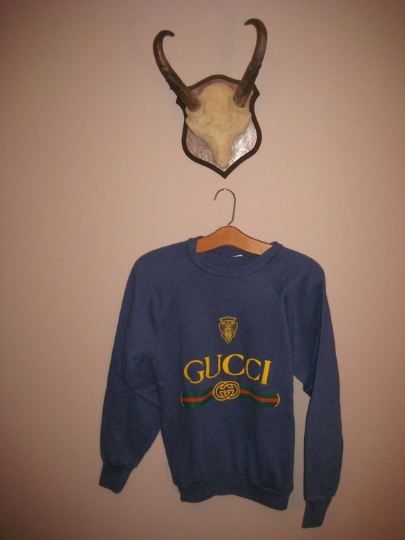 vintage gucci pullover sweatshirt s. Black Bedroom Furniture Sets. Home Design Ideas