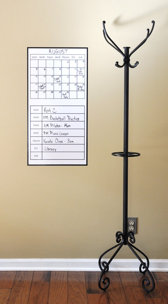 VERTICAL DRY ERASE Calendar 35 x 18 by madhattergraphics on Etsy