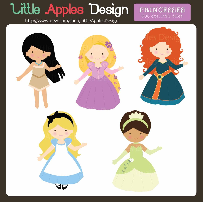 Princess Clip Art / Princess Clipart / Cute Princesses