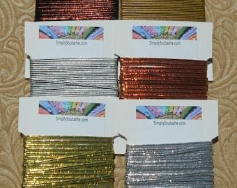 "Simply ""Shiny"" Soutache Kit : 6 different colors of Soutache braid, 5 yards each,  make beautiful Soutache Jewelry with Soutache supplies."